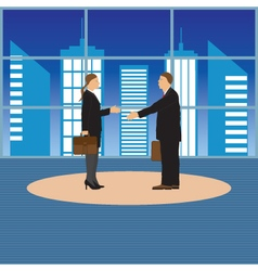 Two businessmen Man and woman vector image vector image