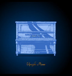 Upright piano vector