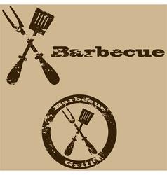 Vintage barbecue vector image