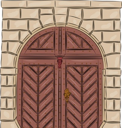 Vintage doors vector