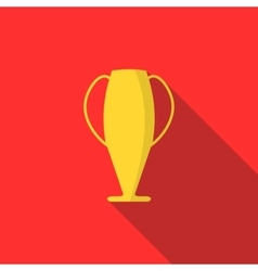 Winner cup icon flat style vector image