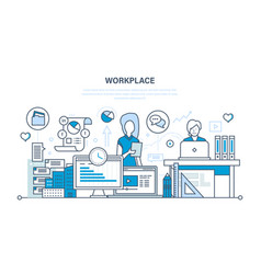 workplace organization workflow tools for job vector image vector image