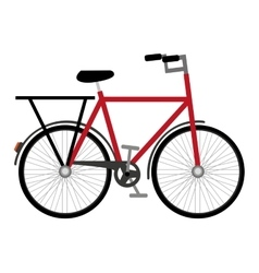 Bicycle vehicle drawn isolated icon vector