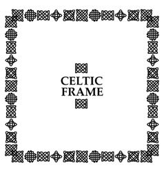Celtic knot square frame vector