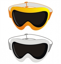 Ski glasses vector
