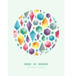 Hanging geometric shapes circle decor pattern vector
