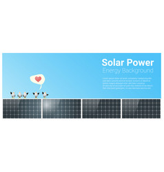 energy concept background with solar panel 2 vector image
