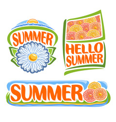 Logo of summer flowers vector