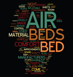 Modern air beds built for convenience and comfort vector
