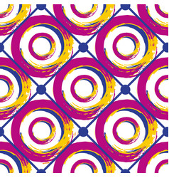 Seamless geometric pattern abstract circles vector