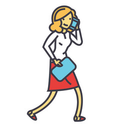 office secretary personal assistant call vector image