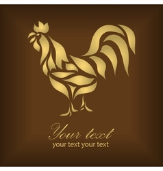 Vintage beautiful gold cock vector