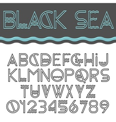 Alphabet letters and numbers vector image