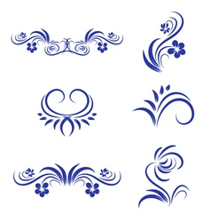 Abstract floral decorative element vector