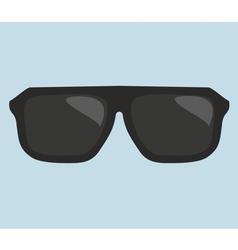 Black hipster sunglasses vector