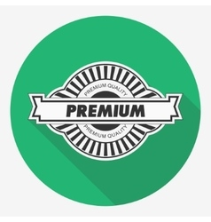 Premium quality label  flat vector