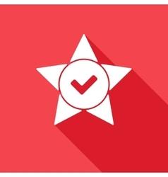 Star tick cross flat vector