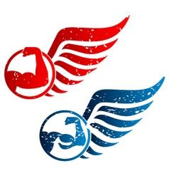 Emblem gym vector