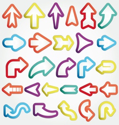 arrows set vector image vector image