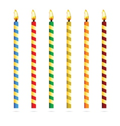 birthday candles for cake vector image