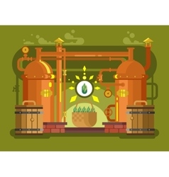 Brewery beer design flat vector