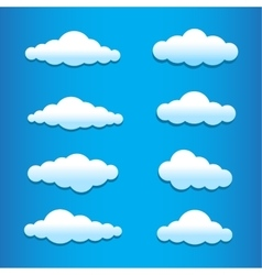 cartoon clouds set vector image vector image