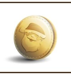 Christmas coin vector