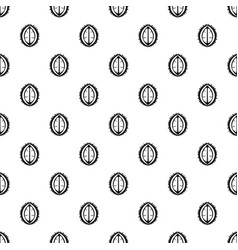 Durian fruit pattern vector
