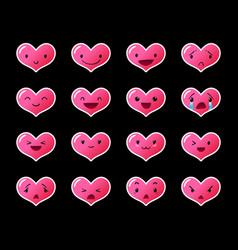 Emoticons heart gradient 9 vector