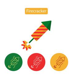 firework rocket explosion minimal flat icon vector image