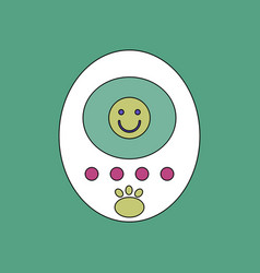 flat icon design collection tamagotchi pets vector image vector image