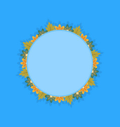 Flat of wreath frame with spring flower vector