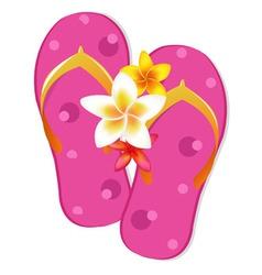Flip flop sandals vector