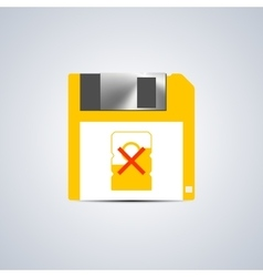 Icon write error vector image vector image