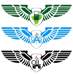Icons petroleum and gas industry vector image vector image