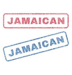Jamaican textile stamps vector