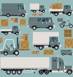 Logistics transport icon set vector