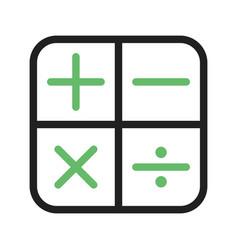 Math symbols i vector