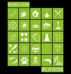 Mobile Game Icon vector image vector image