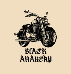 Motorcycle sketch with gothic handwritten vector