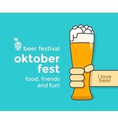 Oktoberfest beer festival vector