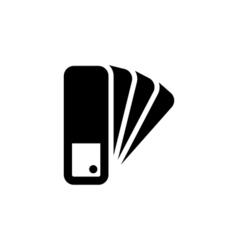 Pantone icon flat vector