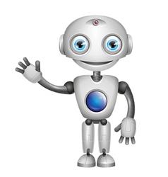 Robot big eyes vector