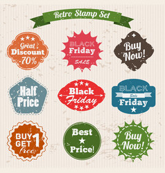 Sale grunge vintage stamp set vector