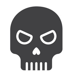 skull glyph icon halloween and scary dead sign vector image