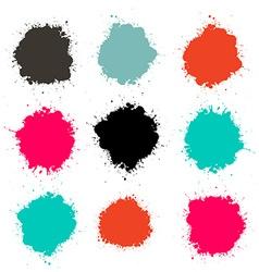Splashes - splash color set isolated on white vector