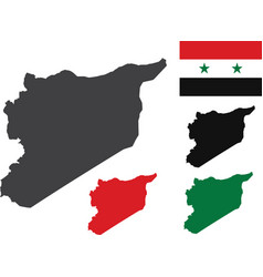 Syria map with flag vector