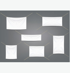 White banners with garters set vector