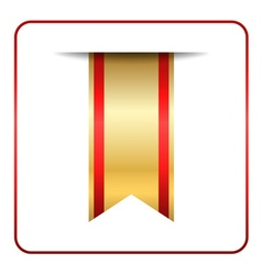 Red gold bookmark isolated vector