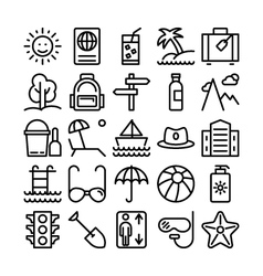 Summer and travel icons 1 vector